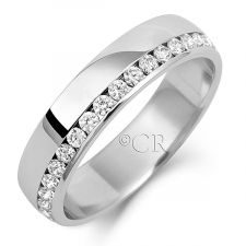 5mm OffSet Diamond Wedding Ring