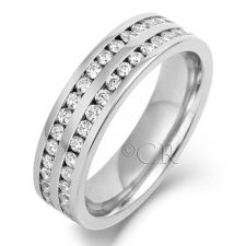 5mm Double Row Channel Set Diamond Ring 0.50ct - 1.00ct
