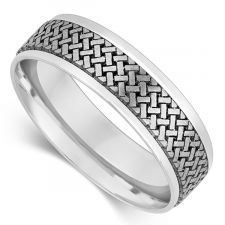 6mm Laser Engraved Wedding Ring
