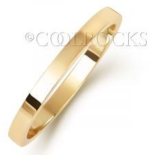 9ct Yellow Gold 2mm Flat Court Shape Wedding Ring W121H