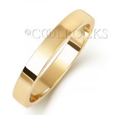 18ct Yellow Gold 3mm Flat Wedding Ring WQ173H