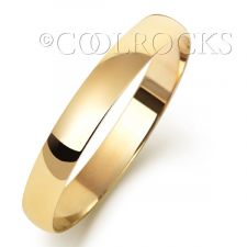 9ct Yellow Gold 3mm D Shape Wedding Ring W103L