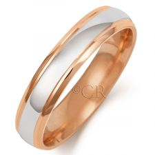 2 Colour Court Wedding Ring