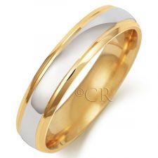 2 Colour Slight Court Wedding Ring
