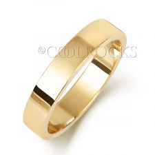9ct Yellow Gold 4mm Flat Wedding Ring W174H