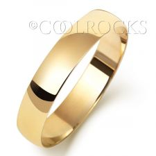 9ct Yellow Gold 4mm Court Shape Wedding Ring W164L