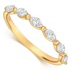 9ct Yellow Gold Marquise Diamond Ring 0.48ct
