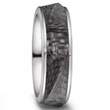 Carbon Fibre & Titanium 7.5mm Ring