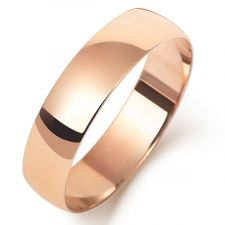 18ct Rose Gold Slight Court Wedding Ring