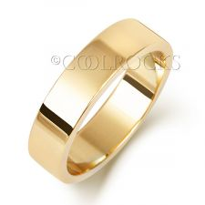 9ct Yellow Gold 5mm Flat Wedding Ring W175H