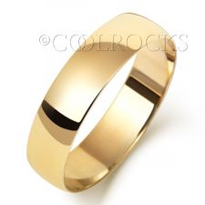 9ct Yellow Gold 5mm Court Shape Wedding Ring W165L