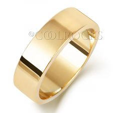 9ct Yellow Gold 6mm Flat Wedding Ring W176H