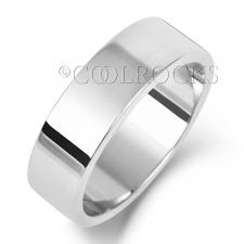 18ct White Gold 6mm Flat Court Wedding Ring WQ126W