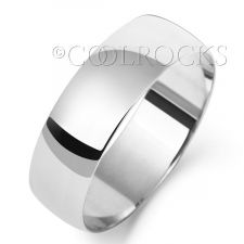 9ct White Gold 6mm D Shape Wedding Ring W106WM