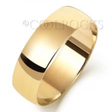 9ct Yellow Gold 6mm Court Shape Wedding Ring W166L