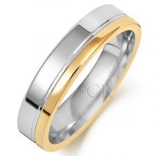 2 Colour Flat Court Wedding Ring