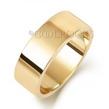 9ct Yellow Gold 7mm Flat Court Shape Wedding Ring W127L