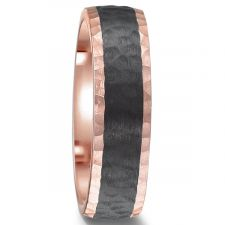 Carbon Fibre Hammered Finish Wedding Ring