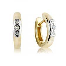 18ct Yellow & White Gold Diamond Earrings