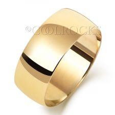 9ct Yellow Gold 8mm Court Shape Wedding Ring W168L