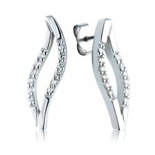 18ct White Gold 1/4ct Diamond Drop Earrings