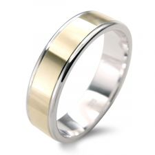 Flat Court 2 Colour Wedding Ring