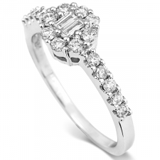 18ct White Gold Diamond Ring 0.54ct