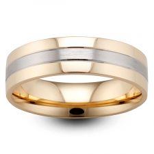 2 Colour Flat Court Wedding Ring