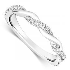 Platinum Vintage Style Wedding Ring 0.18ct