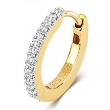 9ct Yellow Gold Diamond Hoops 0.06ct