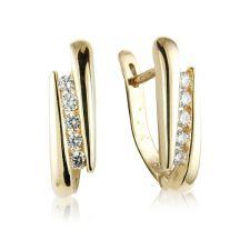 18ct Yellow Gold Diamond Huggy Style Earrings 0.25ct