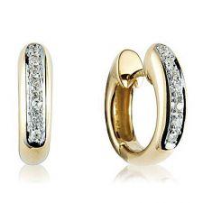 """18ct Yellow Gold """"Huggy"""" Diamond Earrings"""