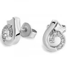 18ct White Gold Diamond Earrings 0.06ct