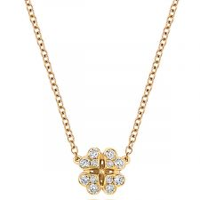 18ct Yellow Gold Diamond Neckalce 0.17ct