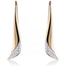 18ct Rose Gold Diamond Drop Earring 0.13ct