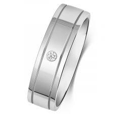 Flat Court Diamond Wedding Ring
