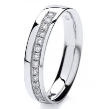 4mm Diamond Grain Set Ring