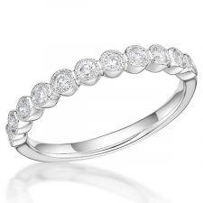 Platinum Vintage Style Wedding Ring 0.23ct