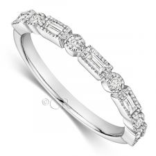 18ct White Gold Vintage Style Diamond Ring 0.25ct