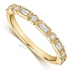 18ct Yellow Gold Vintage Style Diamond Ring 0.25ct