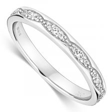 18ct White Gold Vintage Style Ring 0.15ct