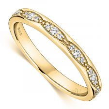 18ct Yellow Gold Vintage Style Ring 0.15ct