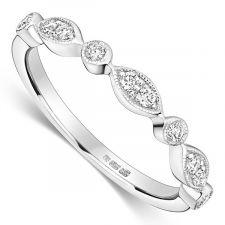 Platinum Vintage Style Diamond Ring 0.12ct