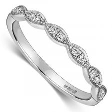 Platinum Vintage Style Wedding Ring 0.11ct