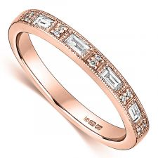 18ct Rose Gold Vintage Ring 0.19ct