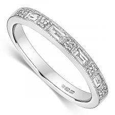 18ct White Gold Vintage Ring 0.19ct