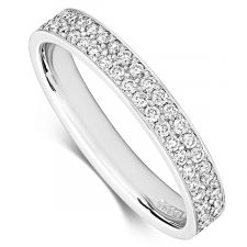 Two Row Diamond Micro Set Ring 0.44ct