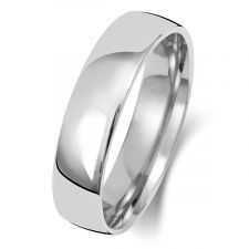 18ct White Gold Slight Court5mm Wedding Ring WQ15WM