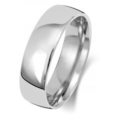 Palladium 6mm Slight Court Wedding Ring WL116M