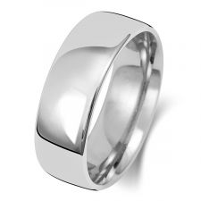 18ct White Gold Slight Court7mm Wedding Ring WQ17WM